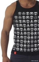 Little ROBOTS black tank-top