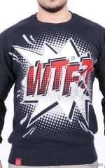 """WTF?!"" Sweatshirt - Navy"