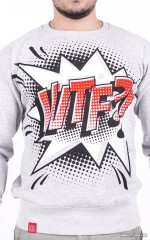 """WTF?!"" Sweatshirt - Grey"