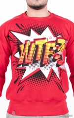 """WTF?!"" Sweatshirt - Red"