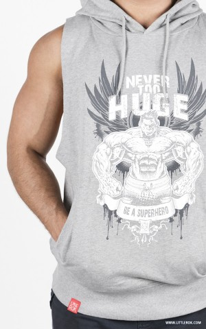 Never Too HUGE Hoodie - Gray