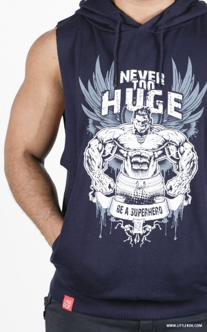 Never Too HUGE Hoodie - Blue